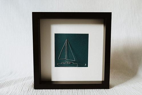 sailboat 2 - wire art
