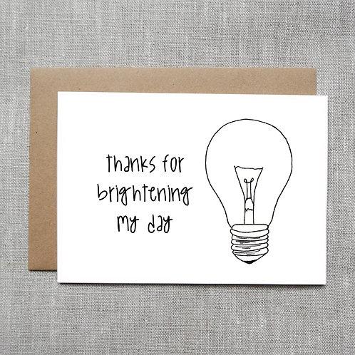 brightening my day - Card