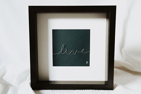 """live"" - wire art"