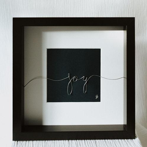 """""""joy"""" - wire art"""