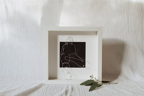nude 2 - wire art