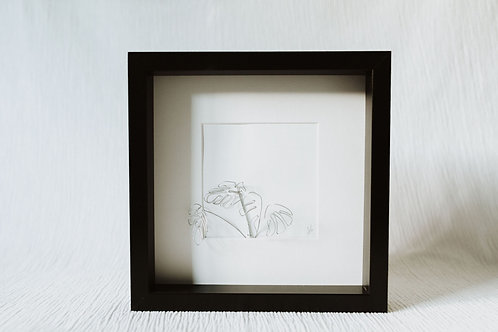 monstera leaf 2 - wire art