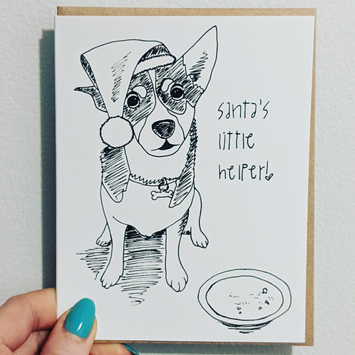 santa's little helper (dog) - Card