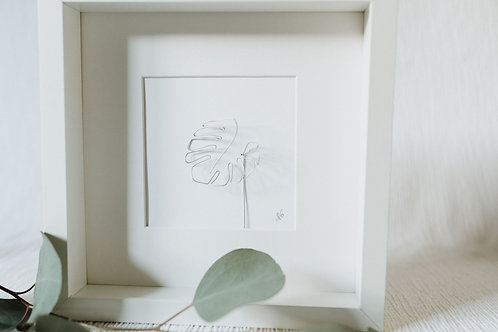 monstera leaf 1 - wire art