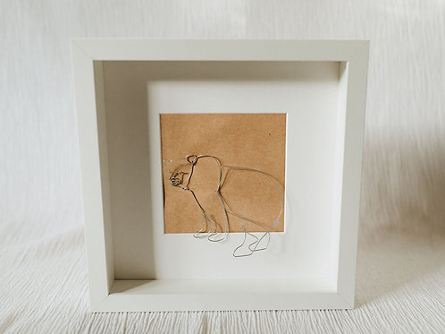 brown bear - wire art