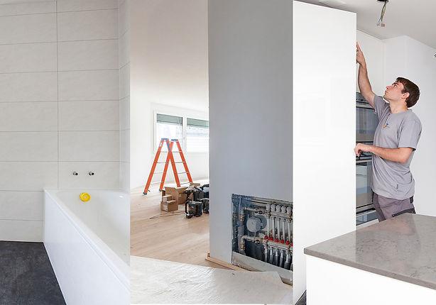 Umbau Gesamtumbau Ausführung Handwerker Koordination Baukontrolle Planung| KÄPPELI AG Küchen- und Raumdesign