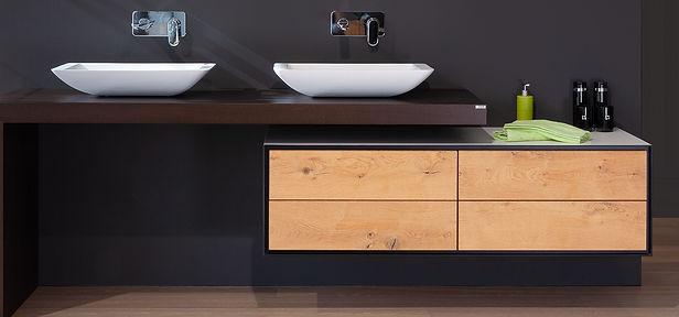 Bad Badmöbel Lavabo Badplanung Holzfront| KÄPPELI AG Küchen- und Raumdesign