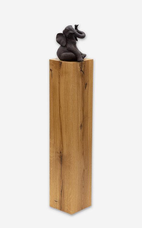 Holz Deko-Säule in Eiche, Masse 800 x 180 x 180 mm