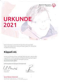 KÄPPELI AG für Special Olympics Switzerland