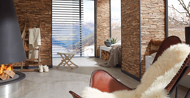 Wände Wandverkleidung Steindekor Holzdekor Parkett Raumdesign| KÄPPELI AG Küchen- und Raumdesign