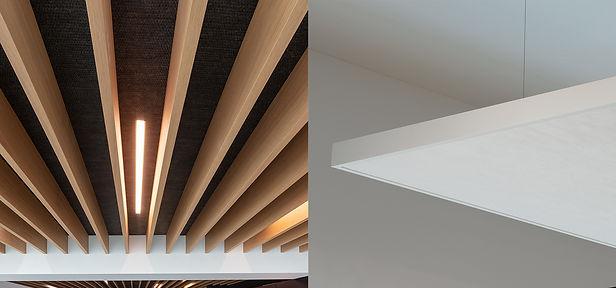 Decken Deckenelemente Akustikdeckenelemente Gestaltungselemente Deckenverkleidung Innenausbau| KÄPPELI AG Küchen- und Raumdesign