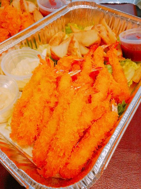 小食拼盤-薯角/炸越式春卷/吉列炸蝦