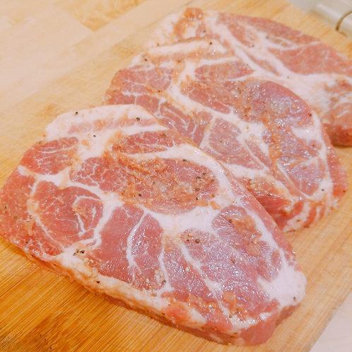西班牙純種伊比利亞黑毛豬扒 2塊裝