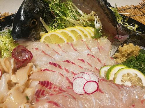 日本原條黑立魚刺身