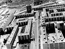 Construction de Pissevin Nîmes HLM 1970