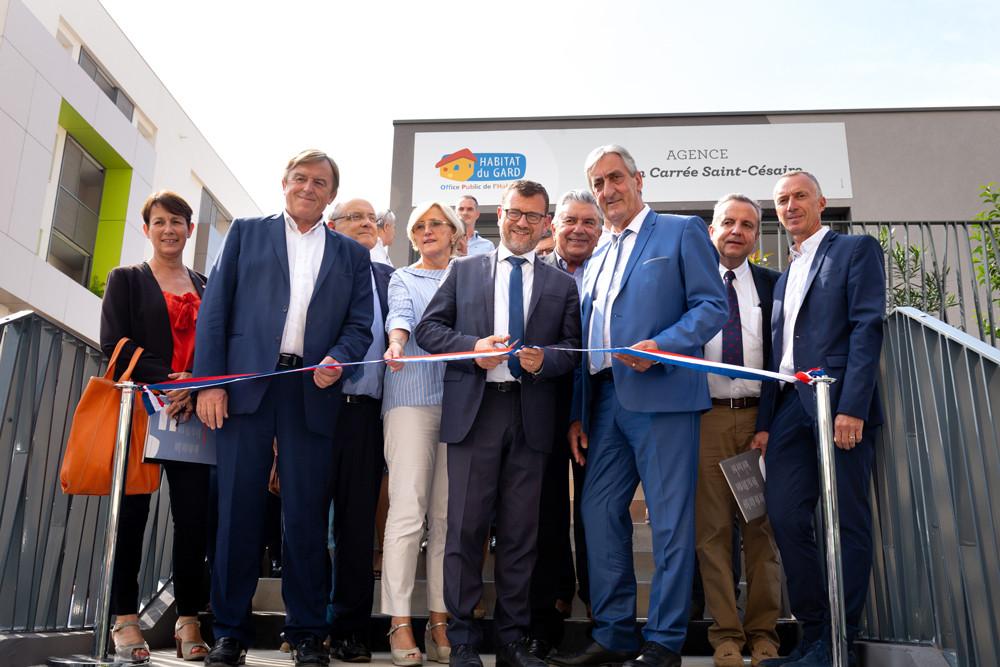 Inauguration de l'Agence de proximité d'Habitat du Gard