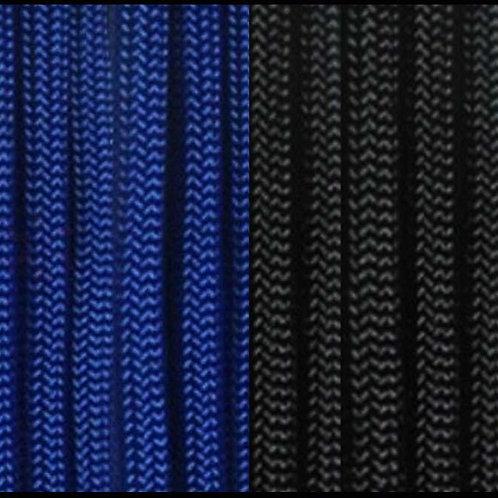 PARACORD ROYAL BLUE & BLACK / KCH