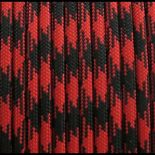 PARACORD CAMO RED AND BLACK / PCM