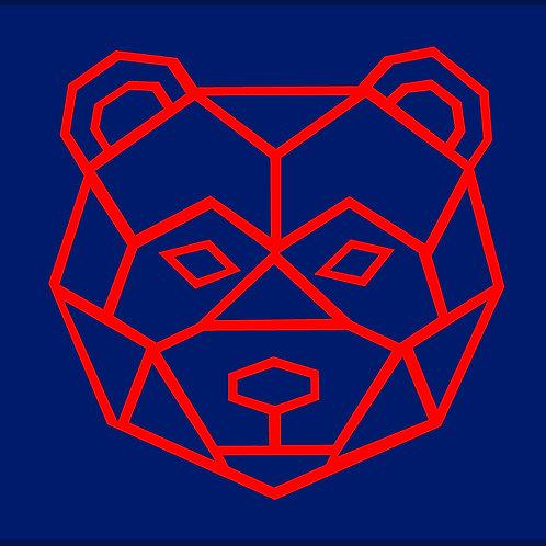 BEAR FACE OUTLINE / TTH