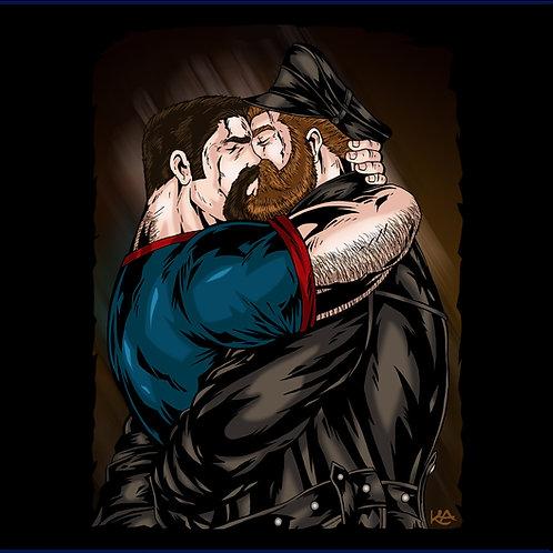 TWO MEN KISSING / TS