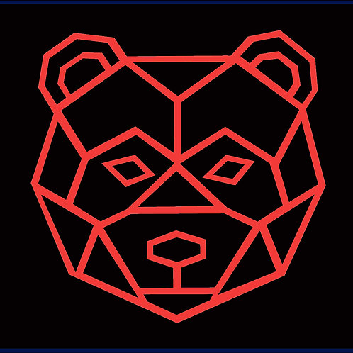 BEAR FACE OUTLINE / RGB