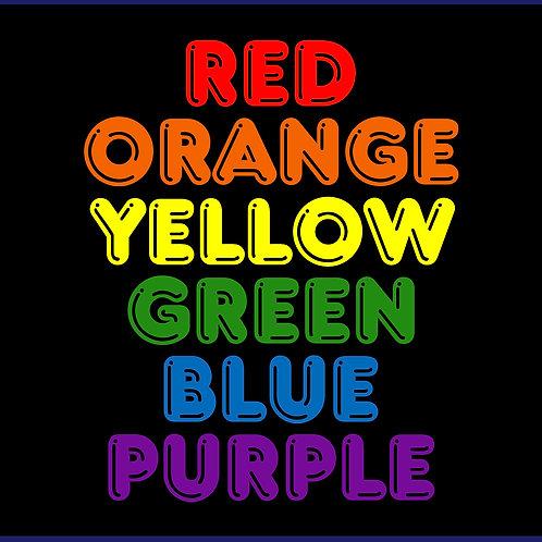 PRIDE FLAG WORDS / SW