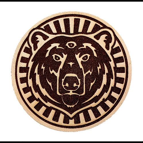 THREE EYED BEAR ON LEATHER / CTC