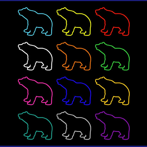BEARS COLOURS OUTLINES / SW