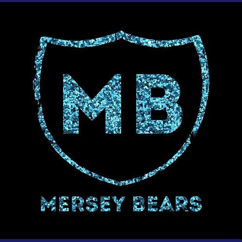 MERSEY BEARS 2 WORDS / GLITTER TS