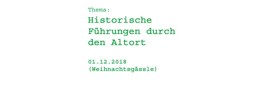 Historische Führungen durch den Altort