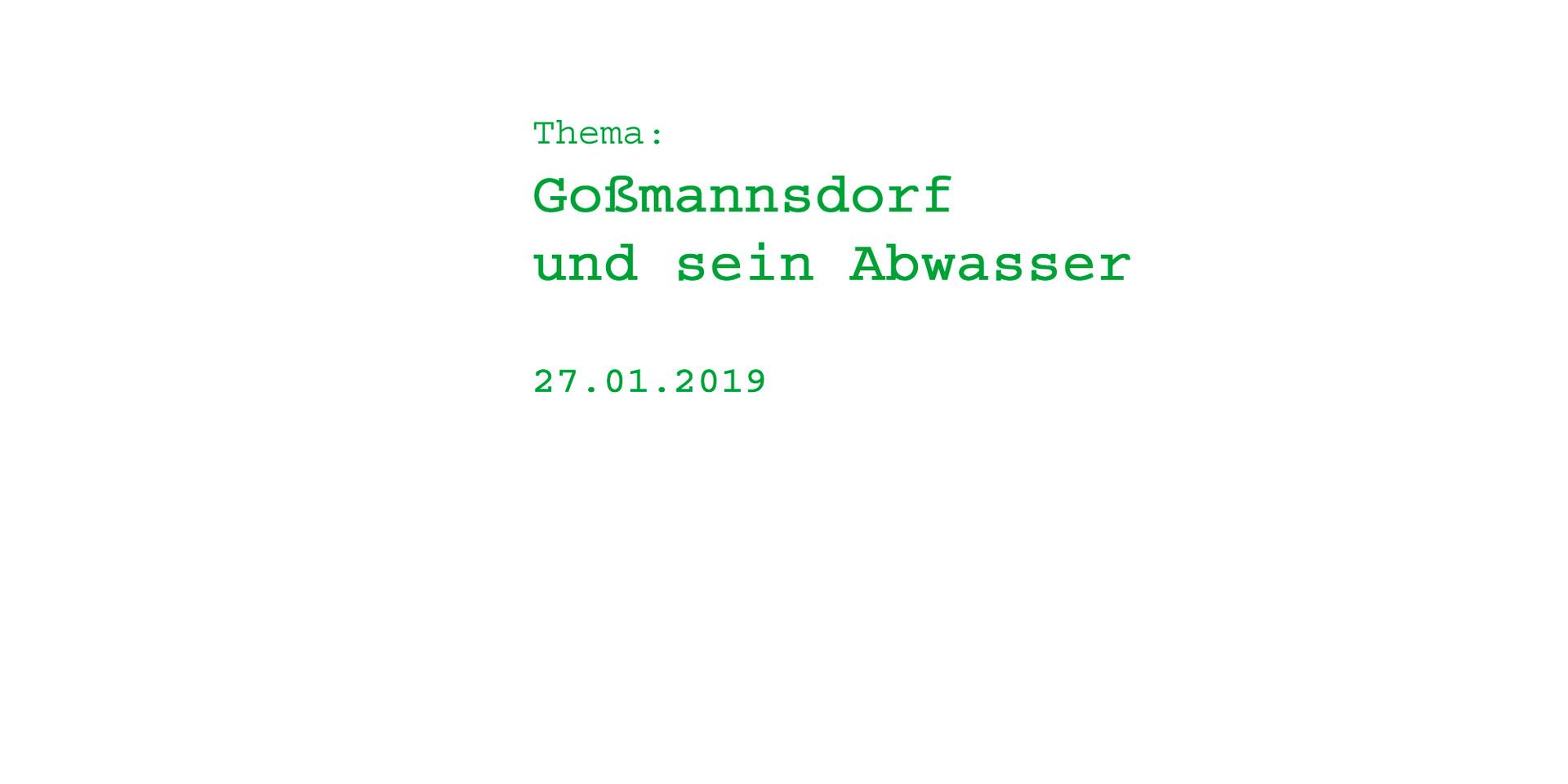 Abwasser in Goßmannsdorf