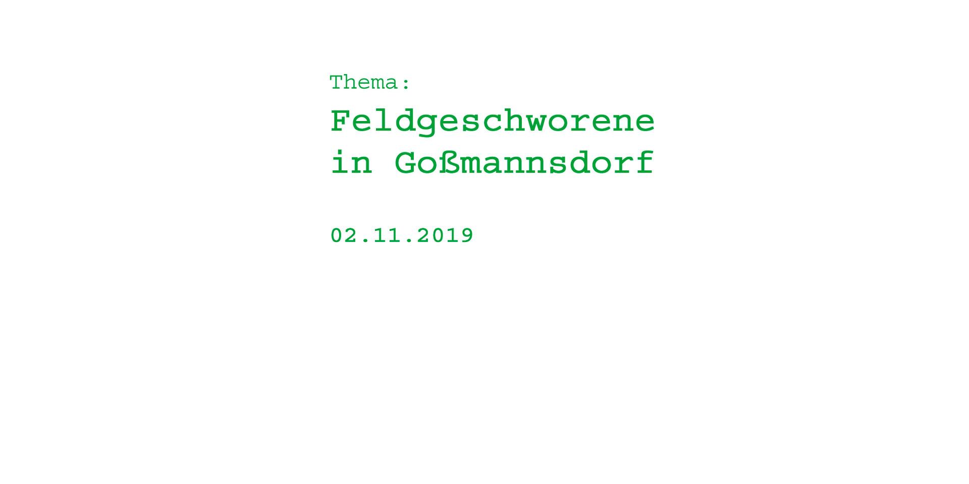 Feldgeschworene in Goßmannsdorf