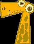 Number-7-funny-cartoon-animal-Clip-Art.p