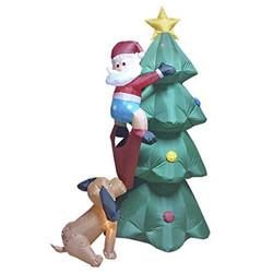 SANTA ON CHRISTMAS TREE