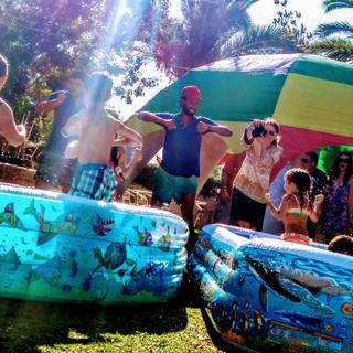Garden water party