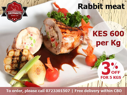 Assorted Rabbit Meat (5 Kgs)