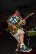 Guitar Player rockin it w Hawaiian Shirt