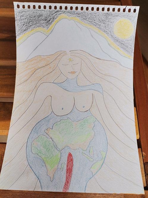 Mother Earth inneres Strahlen