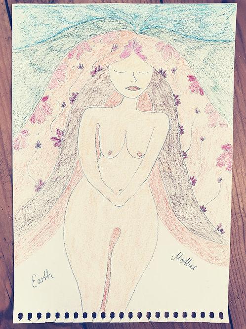 MOTHER Earth Love Weiblichkeits Kunst