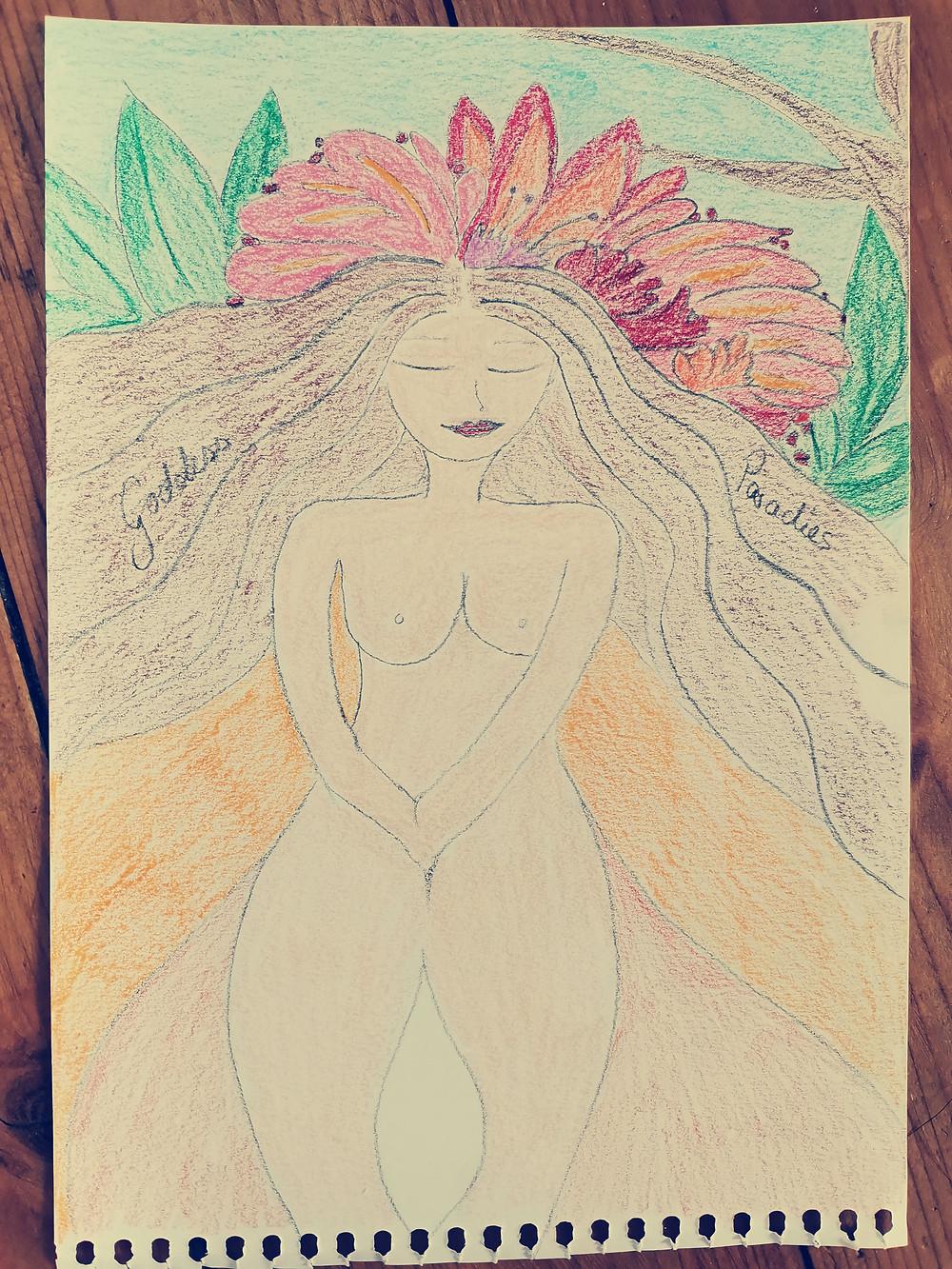 Weiblichkeits Kunst Göttin in Dir