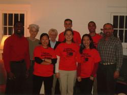 90s orange shirt group photo