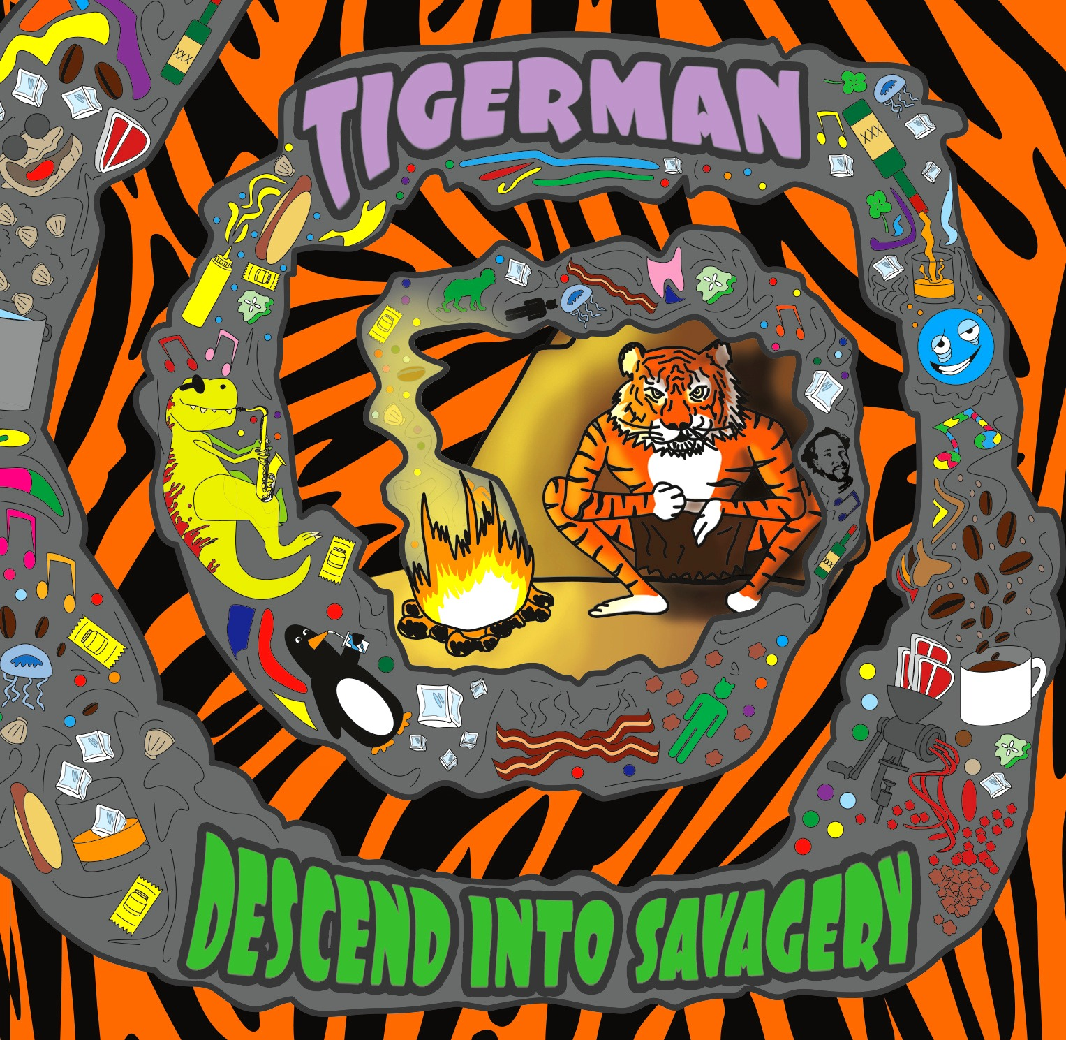 Descend Into Savagery Tigerman Album Fro