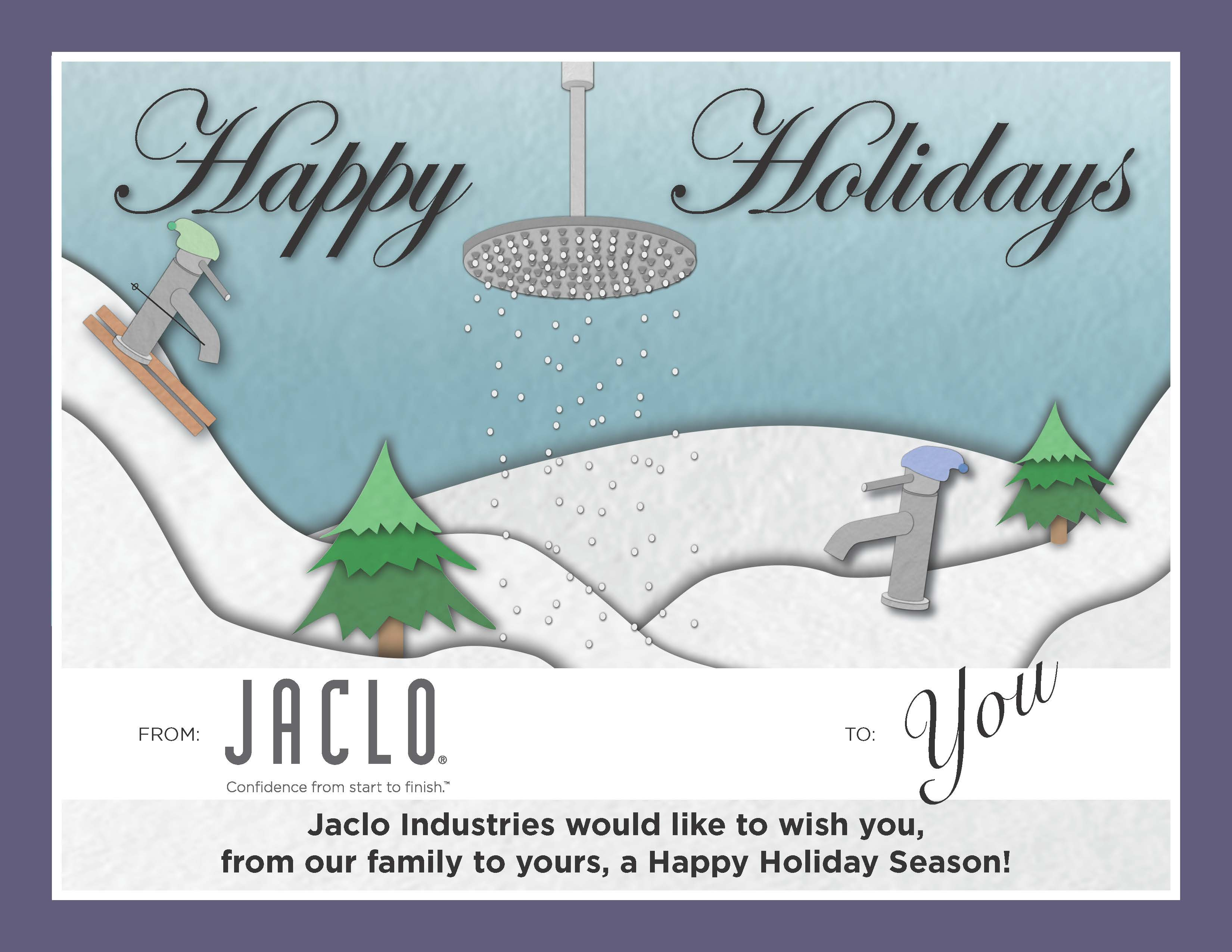 Jaclo Happy Holidays Card