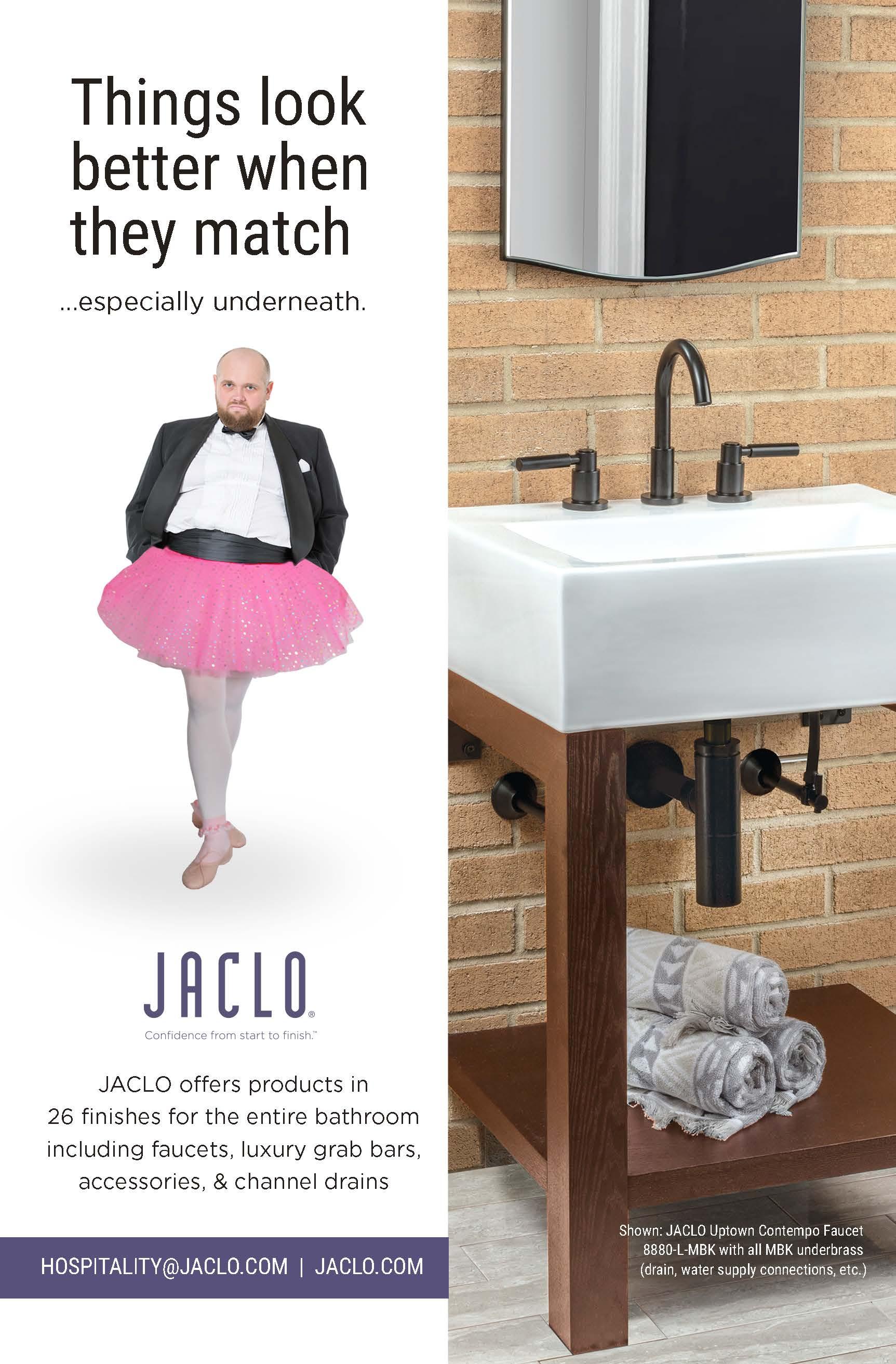 Jaclo Hospitality Match Ad