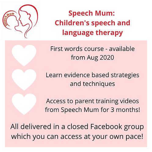 Speech Mum's First Words Parent Course