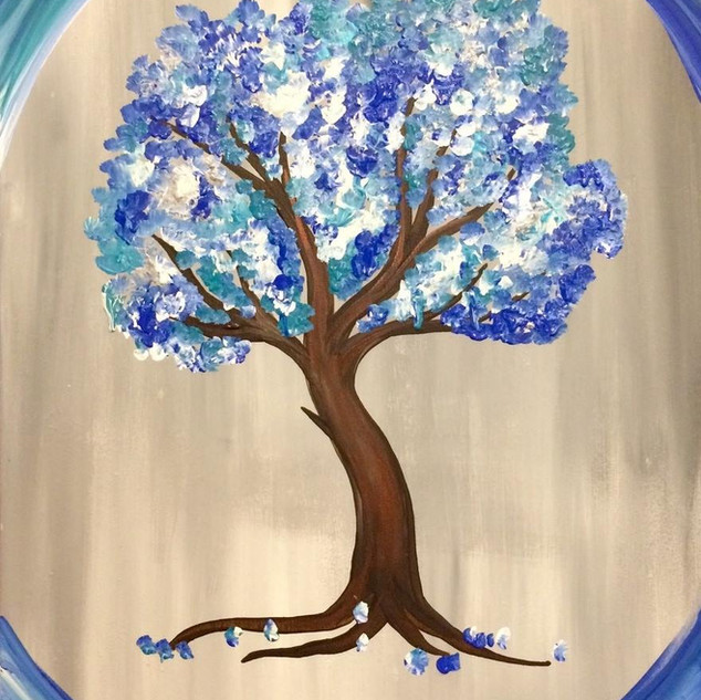 Blue Dancing Tree