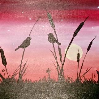 Birds & Pink Sky