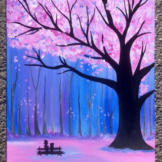 Baby Pink Tree & Bench