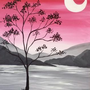 Pink Mountain Tree