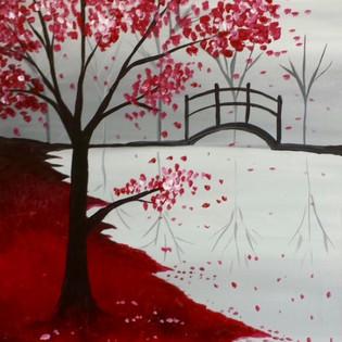 Red Tree & Bridge